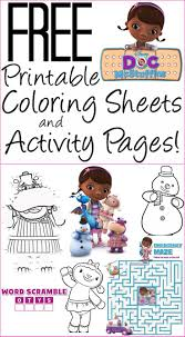 free doc mcstuffins coloring pages activity sheets print them