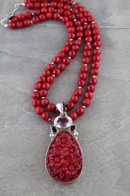 coral necklace images Coral necklace with coral topaz garnet pendant dana voorhees JPG