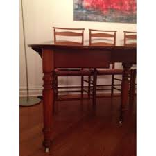 oak wood vintage 19th c reserve dining table w 6 aptdeco oak wood vintage 19th c reserve dining table w 6 chairs 0