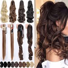 claw clip women claw clip in pony hair extensions ponytail thick