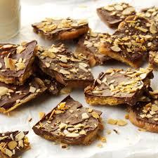 toffee u0026 chocolate bark with toasted almonds recipe taste of home