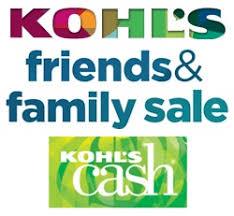 kohl s friends family sale 25 kohl s free shipping
