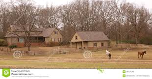ranch style home in the country stock photo image 48174089