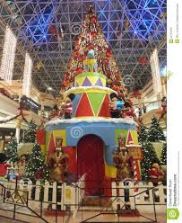 christmas decorations at wafi mall in dubai editorial photography