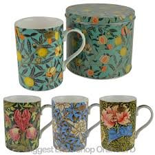 Design Mug New Fine China William Morris Vintage Design Mug Cup With Tin By