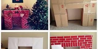 make a fireplace from cardboard www ladylifehacks