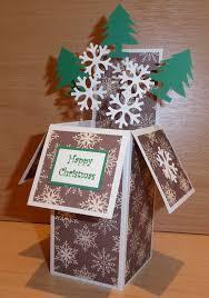 crafty sunflower christmas pop up box card