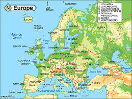 map of europe and russia rivers physical map rivers and mountains