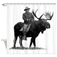 Teddy Shower Curtain Cafepress Teddy Roosevelt On Bullmoose Decorative