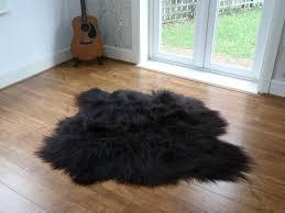Small Black Rugs Icelandic Sheepskin Rugs Hide Rugs