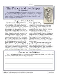 the prince and the pauper 7th grade reading comprehension