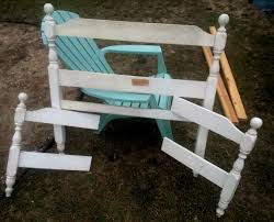 frugal nana loves to upcycle upcycled head and footboard into a bench