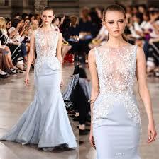 Light Blue Mermaid Dress 2017 Georges Hobeika Light Blue Mermaid Prom Dresses Jewel Neck