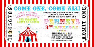 circus tent ticket printable invitation dimple prints shop