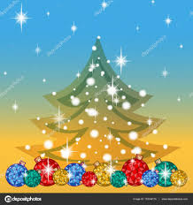 greeting card for the winter holidays below a number of bright
