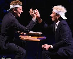 Sitting In A Room Playing Russian Roulette - bradley cooper takes on jimmy fallon in game of u0027egg russian