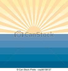 sun with rays and sea marine creative background sun with