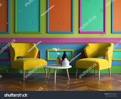 interior modern design room 3d illustration stock illustration