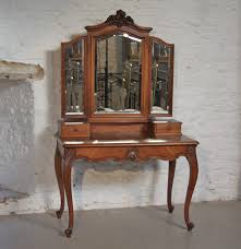 antique dressing table with mirror louis xv1 fench walnut dressing table with triple mirrors 202850