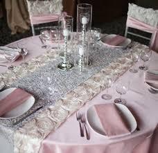 pink rosette table runner table runners amusing satin table runners for weddings hd wallpaper