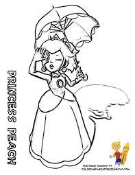 4 princess peach coloring page free printable princess peach