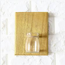 home wall decoration wooden wall hanging plant terrarium glass
