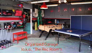 check out this very organized garage turned rec room everything