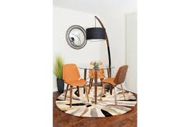 noah mid century modern floor lamp with walnut wood frame and