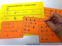 halloween equations answer sheet u2013 festival collections