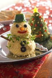 appetizer ideas tree snowman cheese balll