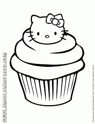 hello kitty cupcake coloring page could be a handy little site