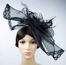 hair fascinators black flower races hat fascinator hair clip party wedding