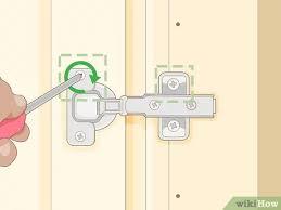 ikea kitchen cabinet door adjustment 3 simple ways to adjust kitchen cabinet doors wikihow