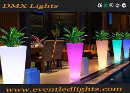 waterproof color change led flower pots outdoor balcony light up
