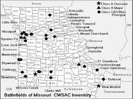 missouri map missouri civil war map of battles american