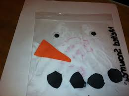melted snowman in a bag simple non messy craft perfect for