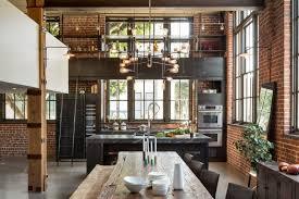 cuisine dans loft cuisine en acier dans un loft à san francisco