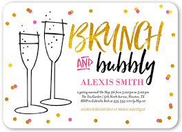 bridesmaid luncheon invitations brunch and bubbly 5x7 invitation bridal shower invitations