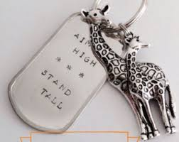 graduation dog tags giraffe keychain etsy