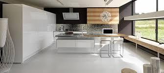 cuisine contemporaine blanche et bois cuisine moderne blanche et bois