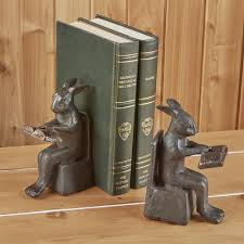rabbit bookends studious rabbit bookends to the nines mw