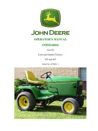 jd 425 445 operators manual tractor lawn mower