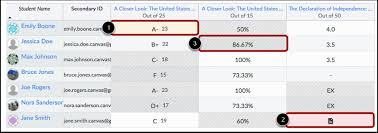 what do different colors mean what do the different grades box colors indicate canvas community
