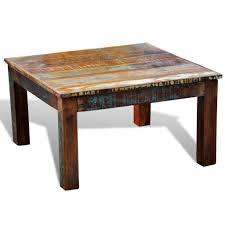 reclaimed wood square coffee table vidaxl reclaimed home furniture vintage wood square coffee table