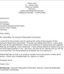 Sample Resume Accounts Receivable Elegant Sample Cover Letter For Accounts Receivable Position 95 On