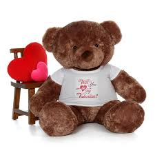 big teddy for s day 5ft size mocha brown s day teddy wearing a