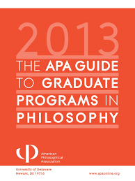 apa guide to philosophy grad schools doctor of philosophy