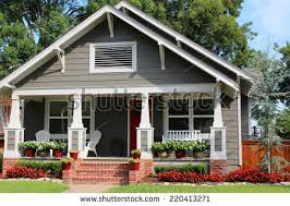 house with porch onefamily house porch stock photo 220413271