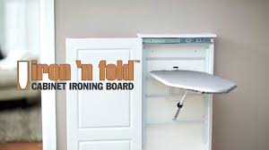 iron n u0027 fold cabinet ironing board youtube
