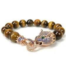 men jewelry bracelet images Nine forever leopard charms bracelet men jewelry natural stone jpg
